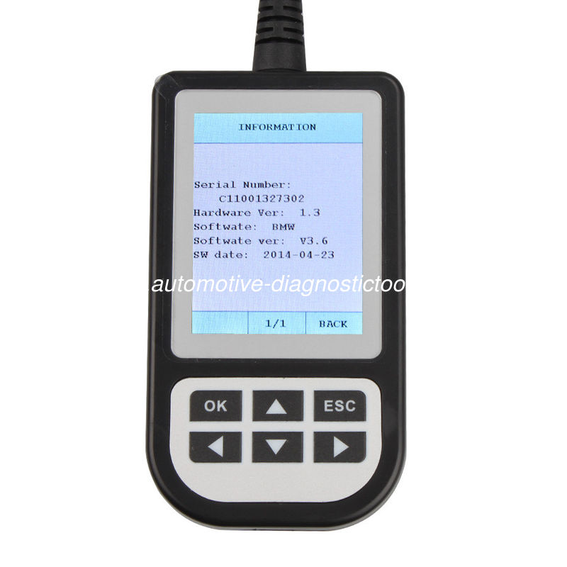 Professional C100 Creator OBDII Code Scanner supports BMW Between 2000 to 2013 years.