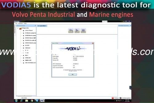 2016 VODIA5 Auto Diagnostic Software for Volvo Penta Industrial and Marine