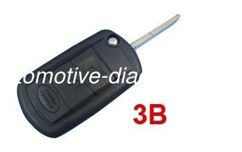 Land Rover Remote Key Blanks, 3 Button Plastic Car Key Shell For Land Rover