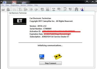 Software diagnostico 01/2017 V1.0 del tecnico automobilistico elettronico di 2017A ET di Caterpillar